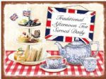 LARGE Afternoon Tea Cake Metal Steel Sign Plaque30 x 40 cm